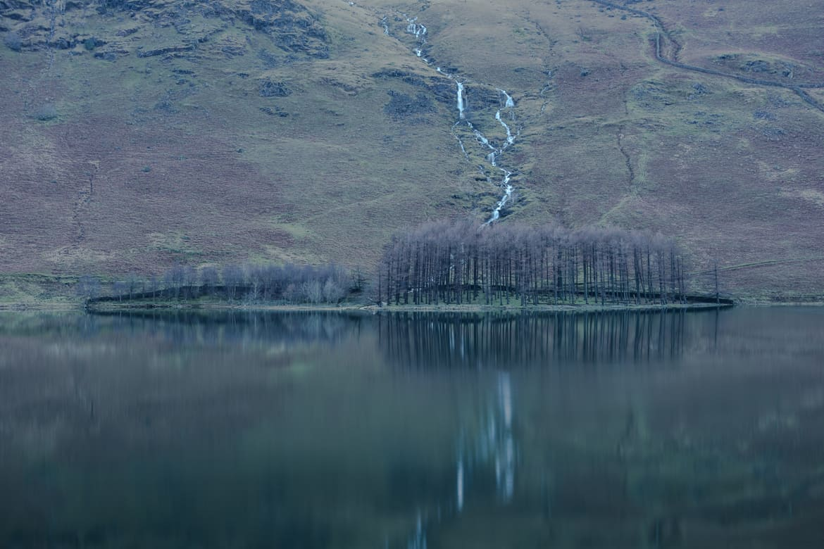 Lake District Buttermere Trees Blue Green Portfolio Image