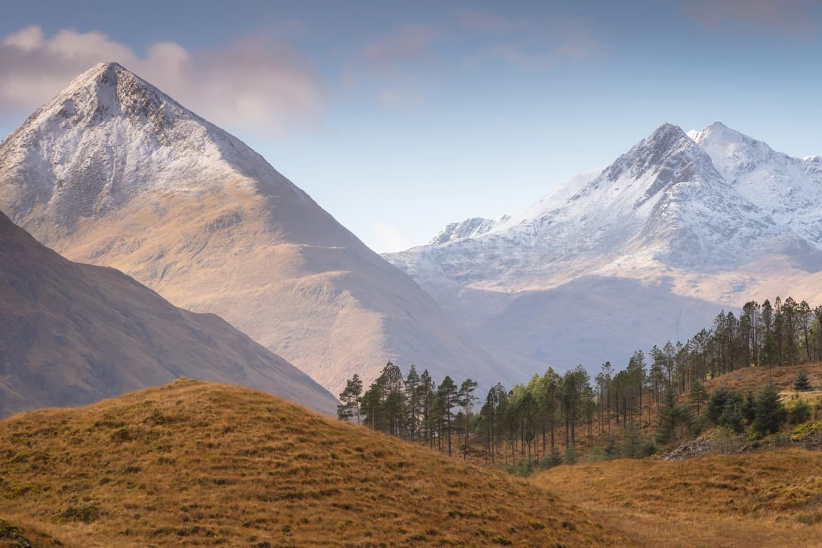 Scottish Highlands and Mountains Glen Shiel Portfolio Image