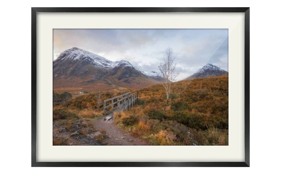 Glen Coe Bridge Black Framed Print