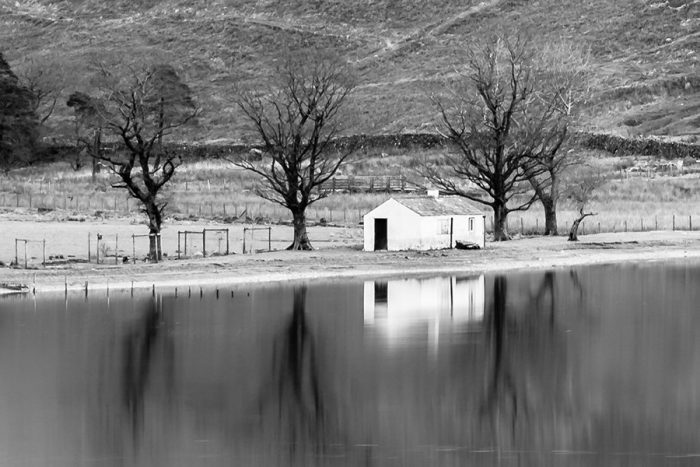 Buttermere Bothy Black and White Detailed Image at 100%