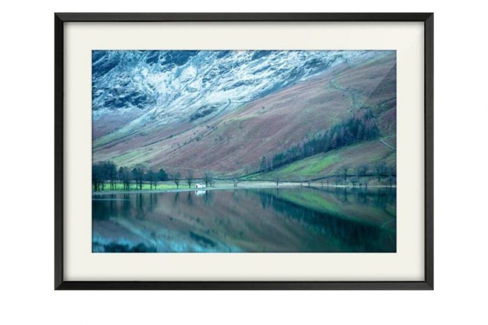Buttermere Hut black framed Print