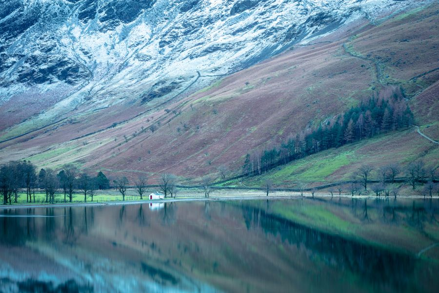 Lake District Buttermere-Hut Print