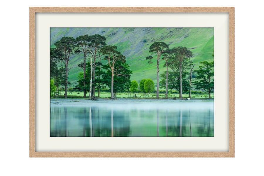 Buttermere Mist Colour Oak Framed Print