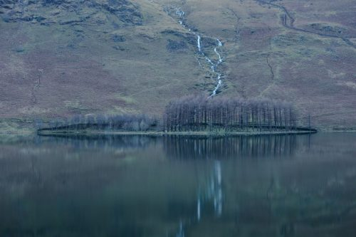 Lake District Buttermere-Trees-Blue-Green-Print