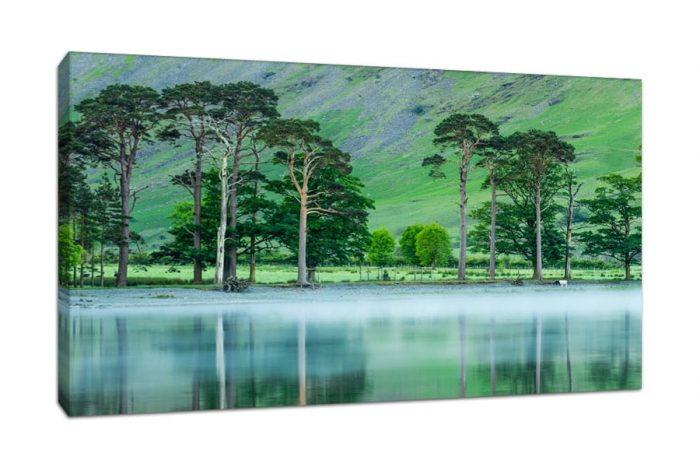 Lake District Buttermere Mist Canvas Picture