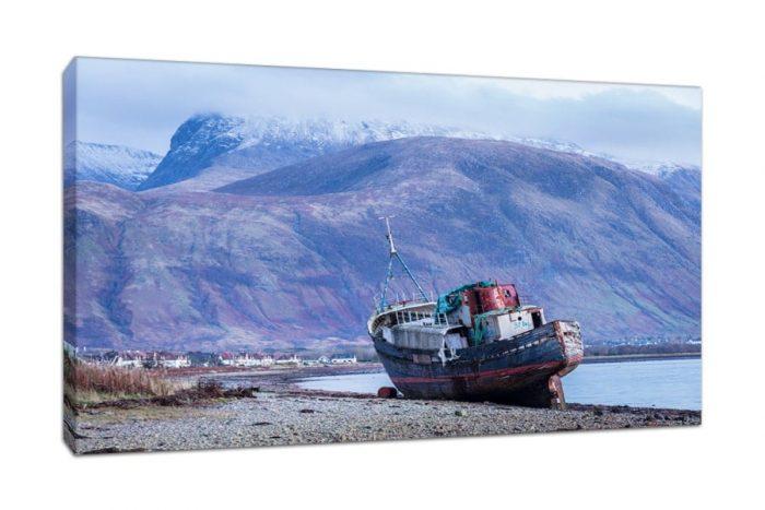 Corpach Ben Nevis Canvas Print from Scotlands Highlands