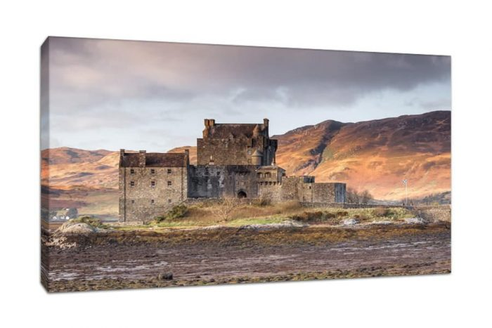 Canvas Picture of Eilean Donan Castle in the Scottish Highlands