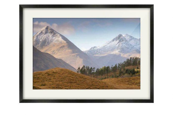Glen Shiel View Black Framed Print