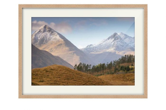 Glen Shiel View Oak Framed Print