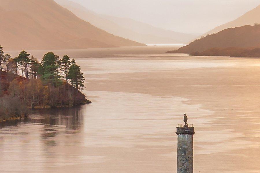 Glenfinnan Loch Shiel Zoomed in to 100% Detail
