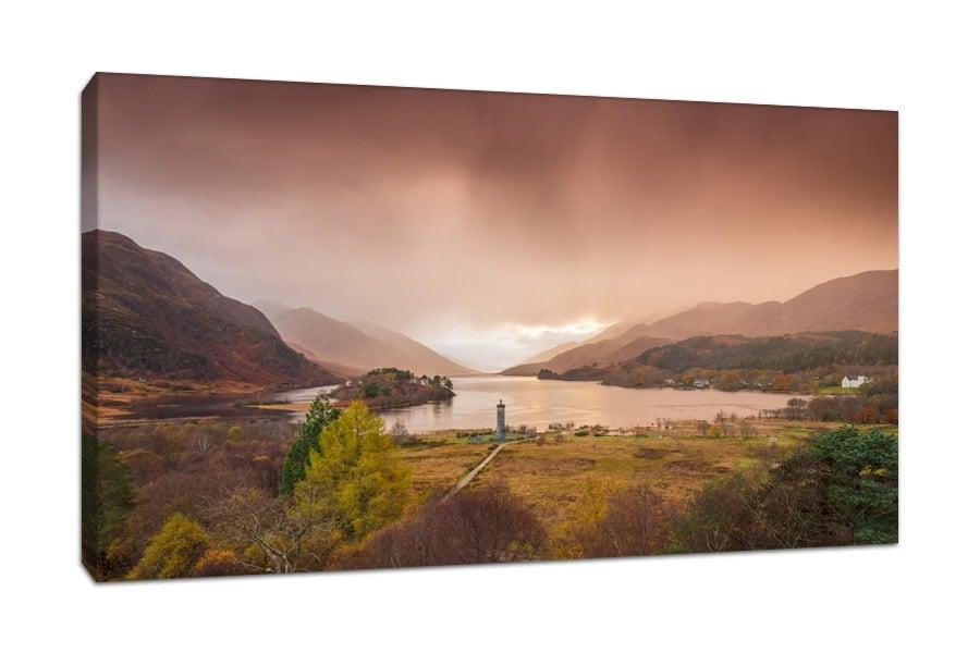 Scottish Highlands Glenfinnan Monument Canvas Picture