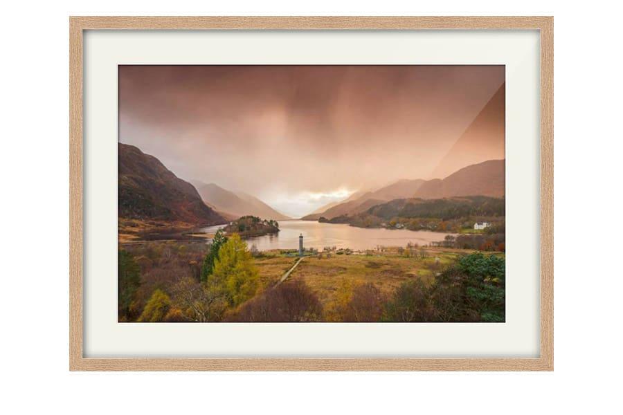 Glenfinnan Monument Oak Frame Print