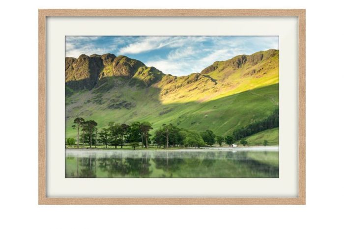 Haystacks Oak Framed Print