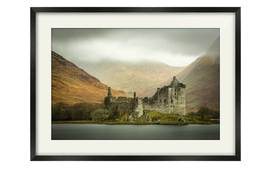 Kilchurn Castle Black Framed Print