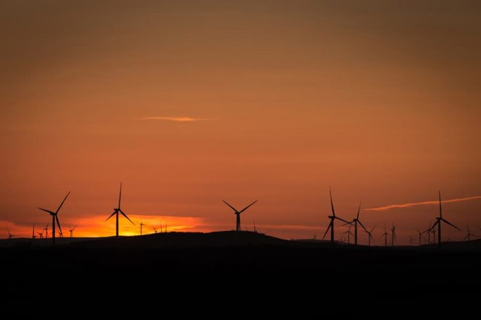 Dumfries and Galloway Wind Farm Sunset Print