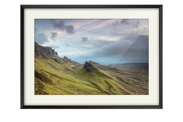 Satin Black Framed Photography of the Quiraing on the Isle of Skye