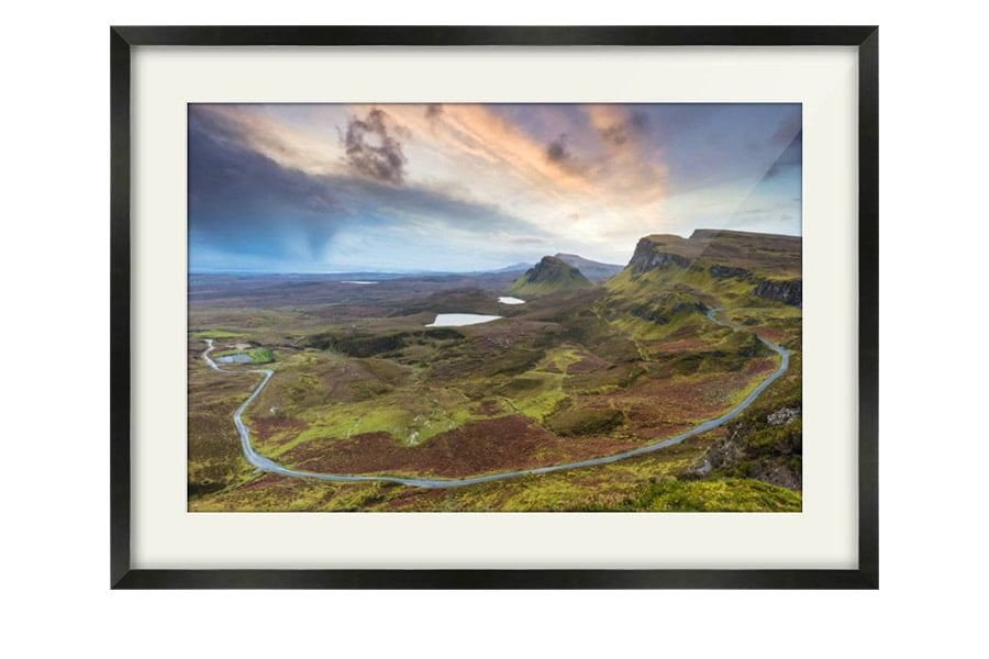 Quiraing Sunrise Isle Of Skye Black Framed Print