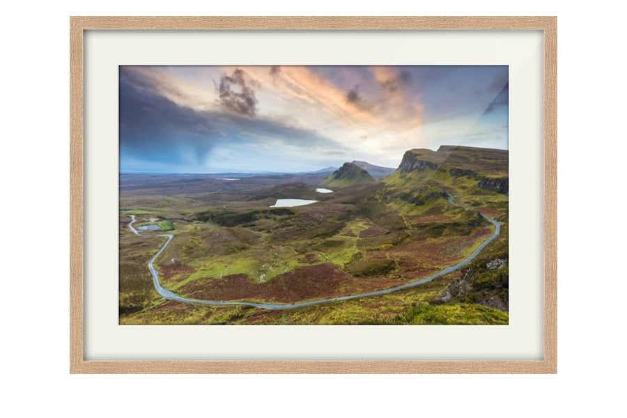 Quiraing Sunrise Isle Of Skye Oak Framed Print