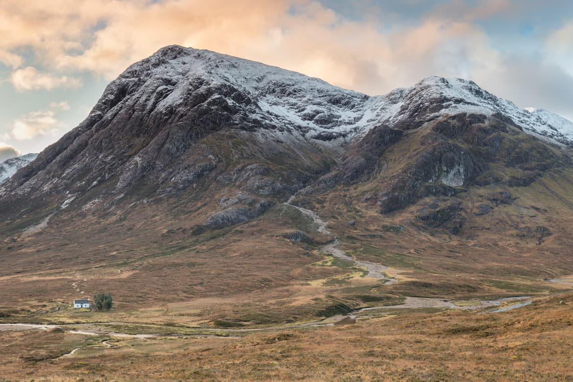 Snowcapped Buachaille Mountains Portfolio Image