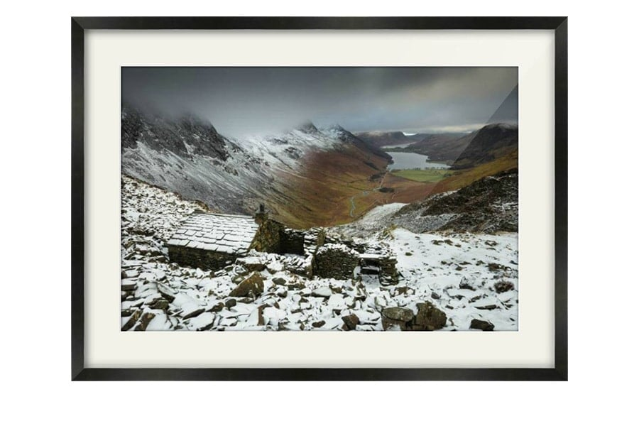 Warnscale Bothy Buttermere Black Framed Print
