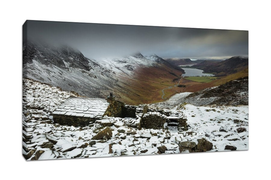 Stunning Lake District Warnscale Bothy Canvas Print Buttermere