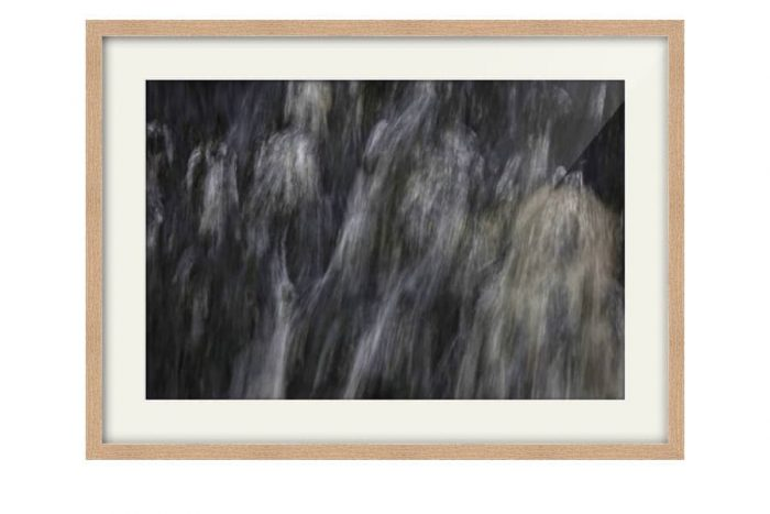 Abstract Waterfall Photography for sale in a Natural Oak Frame