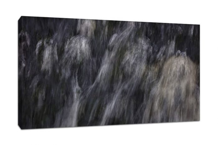 Waterfall Photography Abstract Chunky Canvas Print