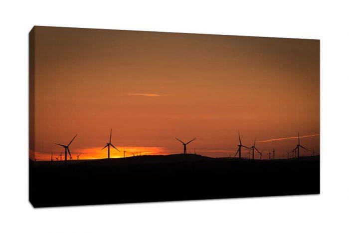 Kilgallioch Windfarm Sunset Canvas Print Dumfries and Galloway