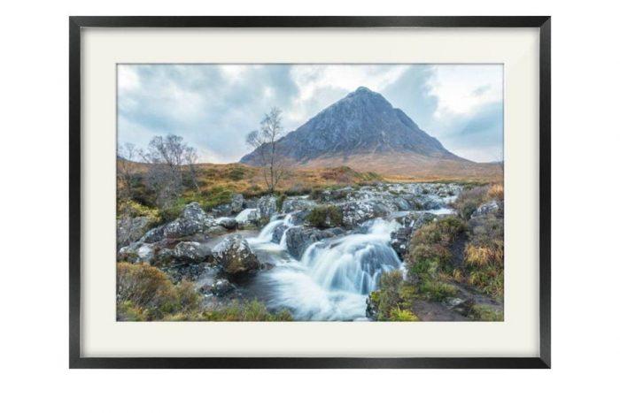 Buachaille Etive Mor Glen Coe Black Framed Print