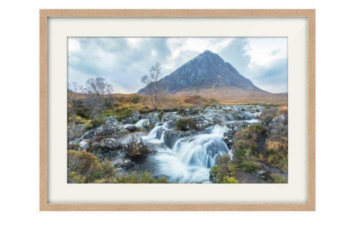 Buachaille Etive Mor Glen Coe Oak Framed Print
