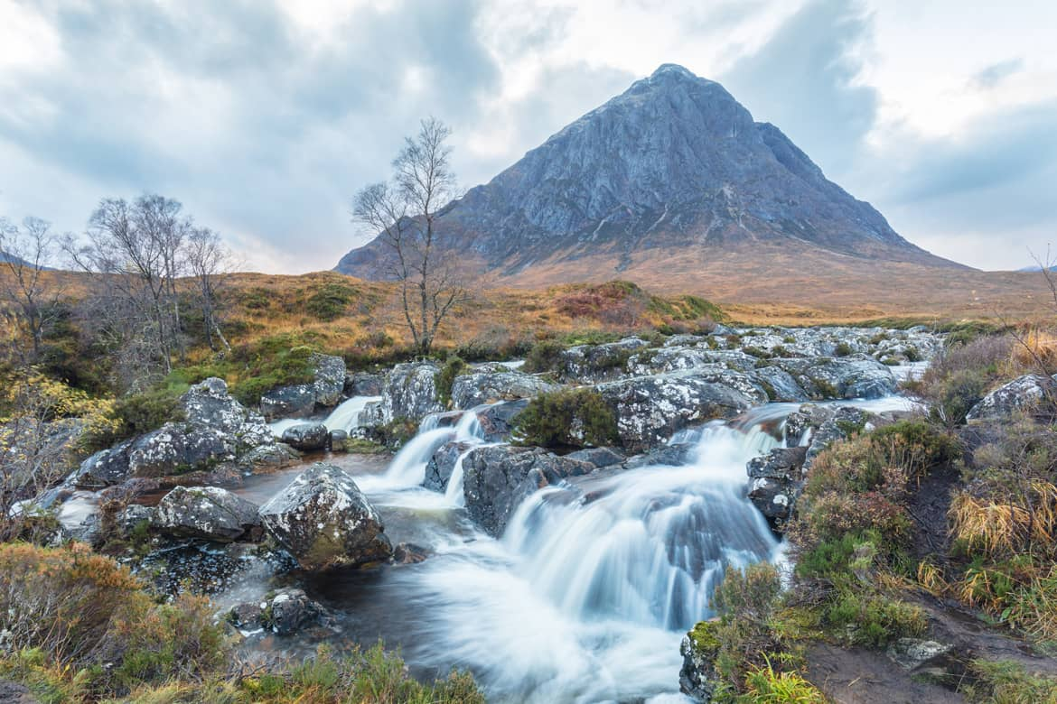 Buachaille Etive More Waterfall Portfolio Image