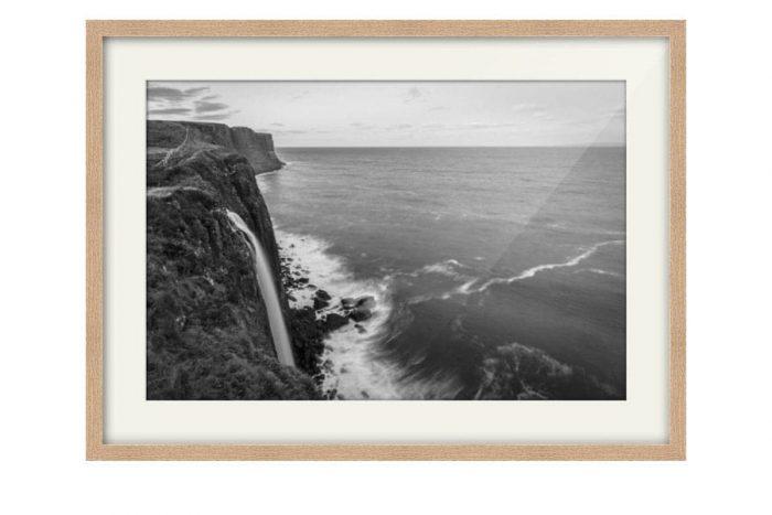 Mealt Falls Kilt Rock Oak Framed Print