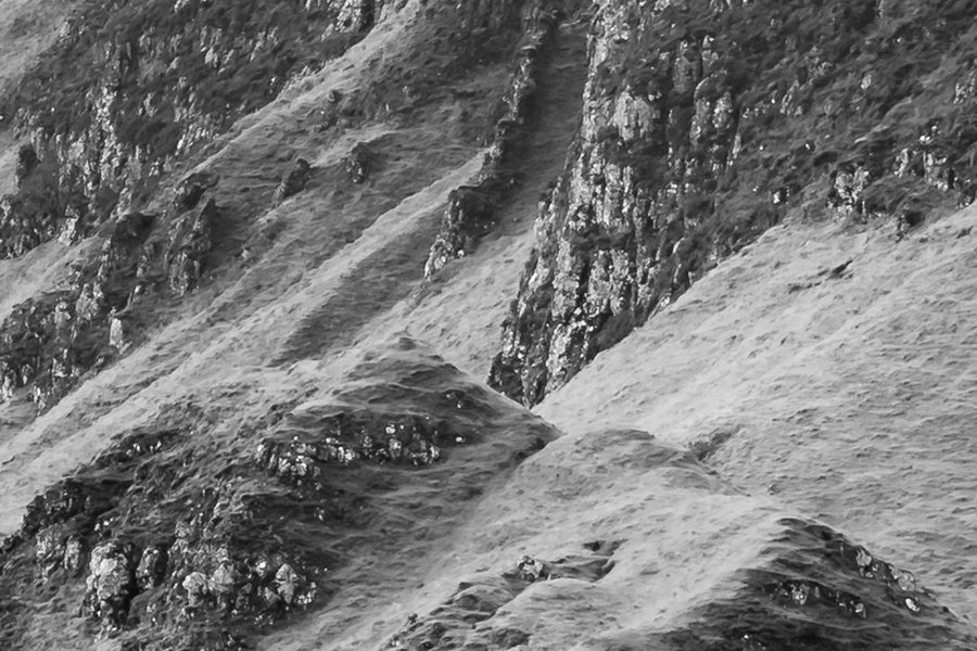 Quiraing Isle of Skye Zoomed in to 100% Resolution