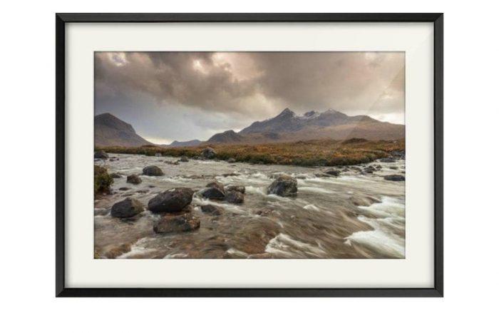 Sligachan Isle of Skye Black Framed Print