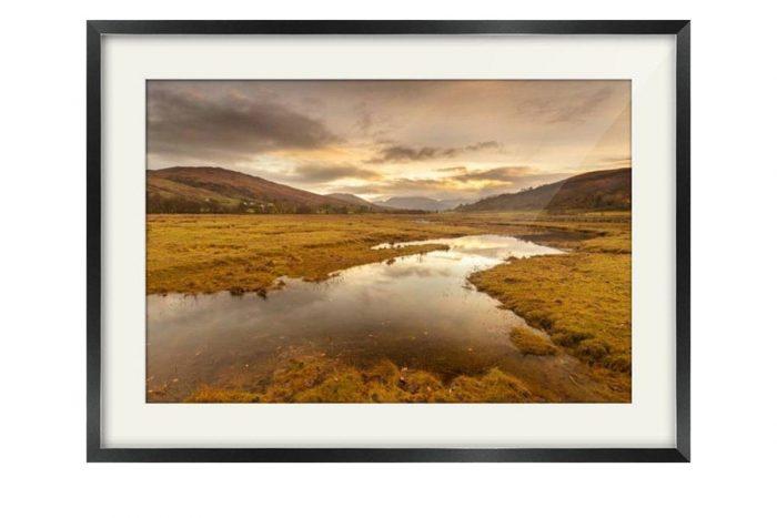 Appin Highlands Sunrise Black Framed Print