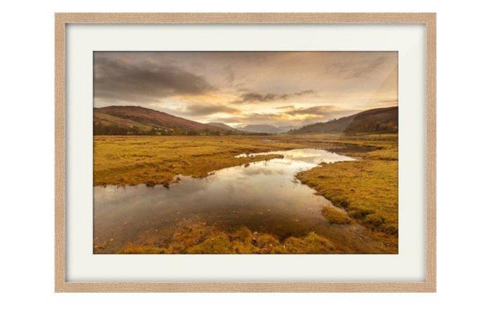 Appin Highlands Sunrise Oak Framed Print