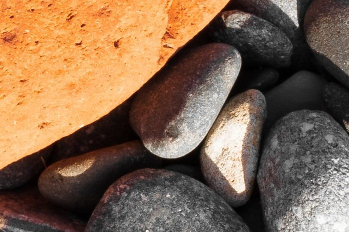 Drummore Orange Stone Zoomed in to 100% Resolution