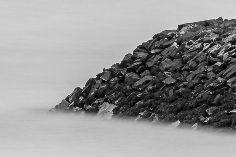 Garlieston Defences Black and White Zoomed in to 100% Resolution
