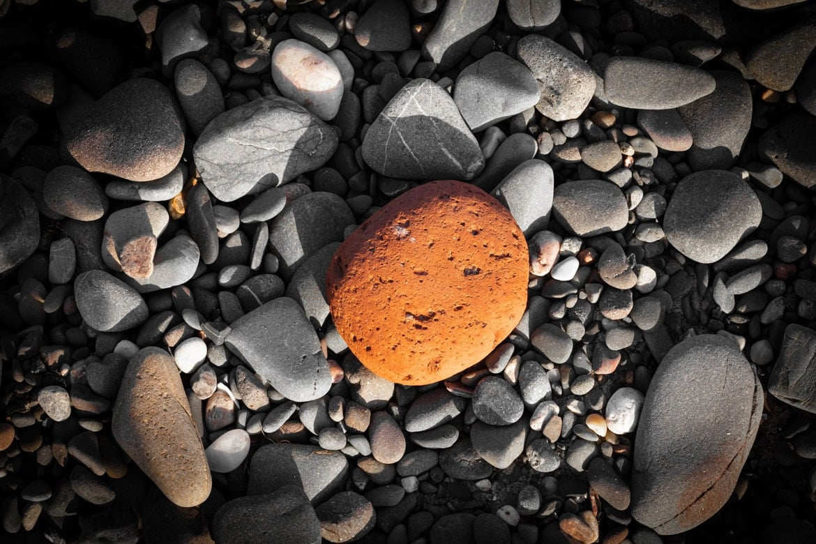 Orange Scottish Beach Pebble Portfolio Image