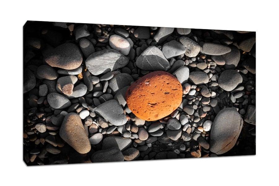 Scottish Orange Beach Pebble Canvas Print
