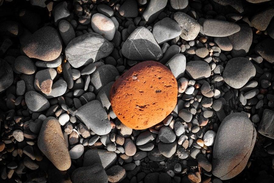 Scottish Orange Beach Pebble Photography Print