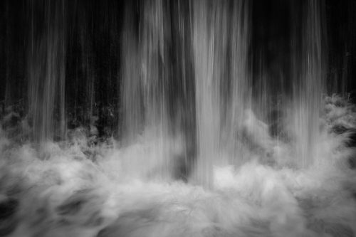 Wood of Cree Black and White Waterfall