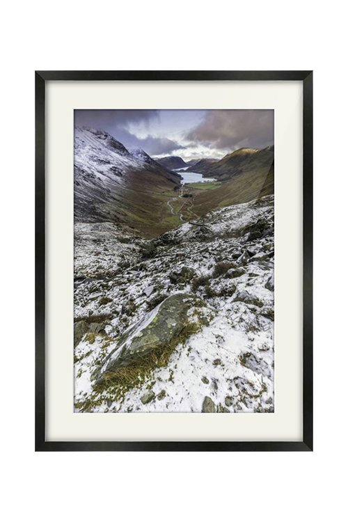 Buttermere View from Haystacks Black Framed Print