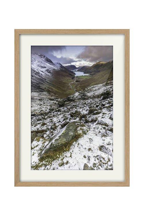 Buttermere View from Haystacks Oak Framed Print