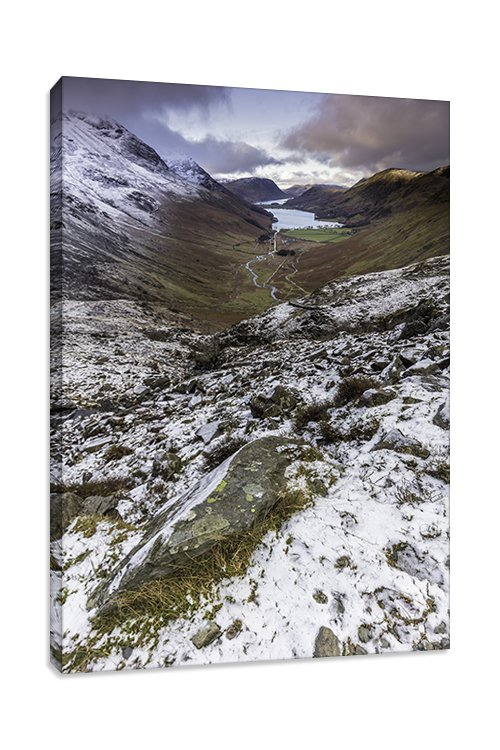 Buttermere View from Haystacks Portrait Canvas Picture