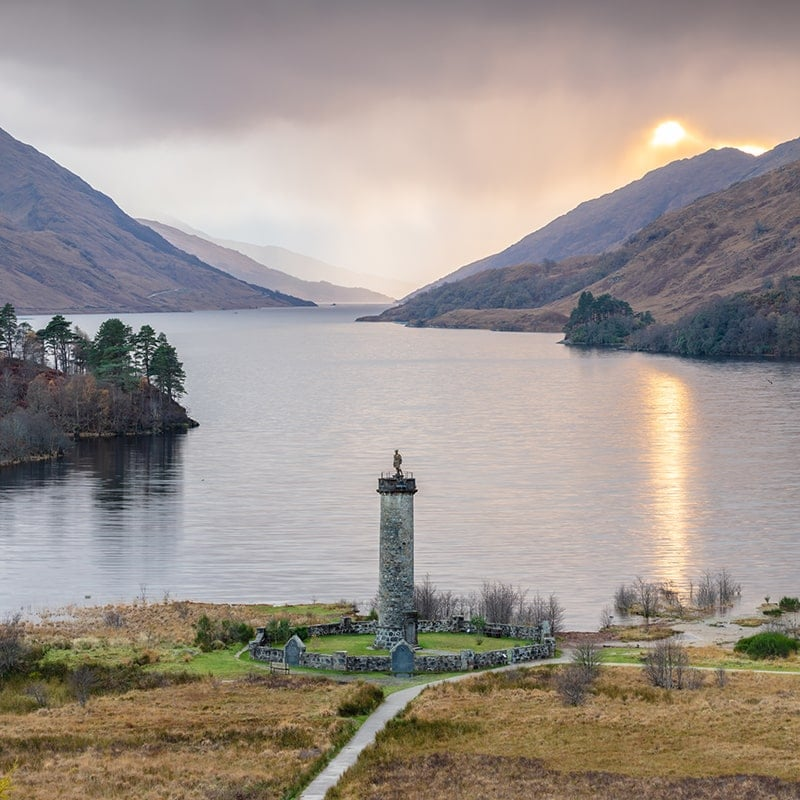 Glenfinnan Monument Square Crop Print Only