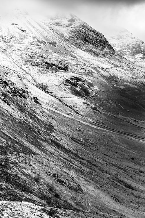 View from Haystacks Mountain Portrait Style Print Black and White