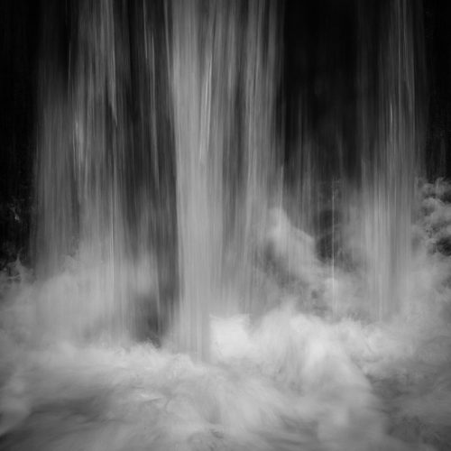 Wood of Cree Waterfall Crashing Print Only Square Crop