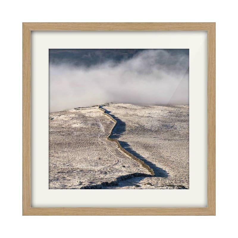 Benyellary Wall Square Oak Framed Print