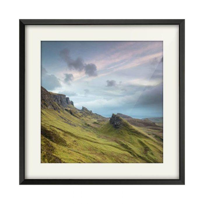 Quiraing Isle of Skye Black Framed Print Square